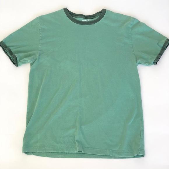 Men's vintage old navy ringer T-shirt green sz M